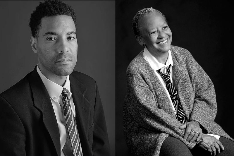 Portraits of L. Lamar Wilson and Nikki Giovanni
