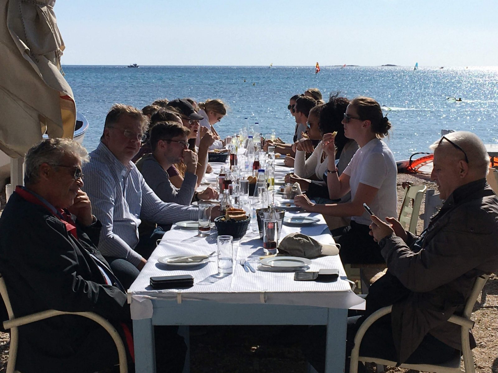 Seaside lunch outside Athens, Greece, Fall 2019
