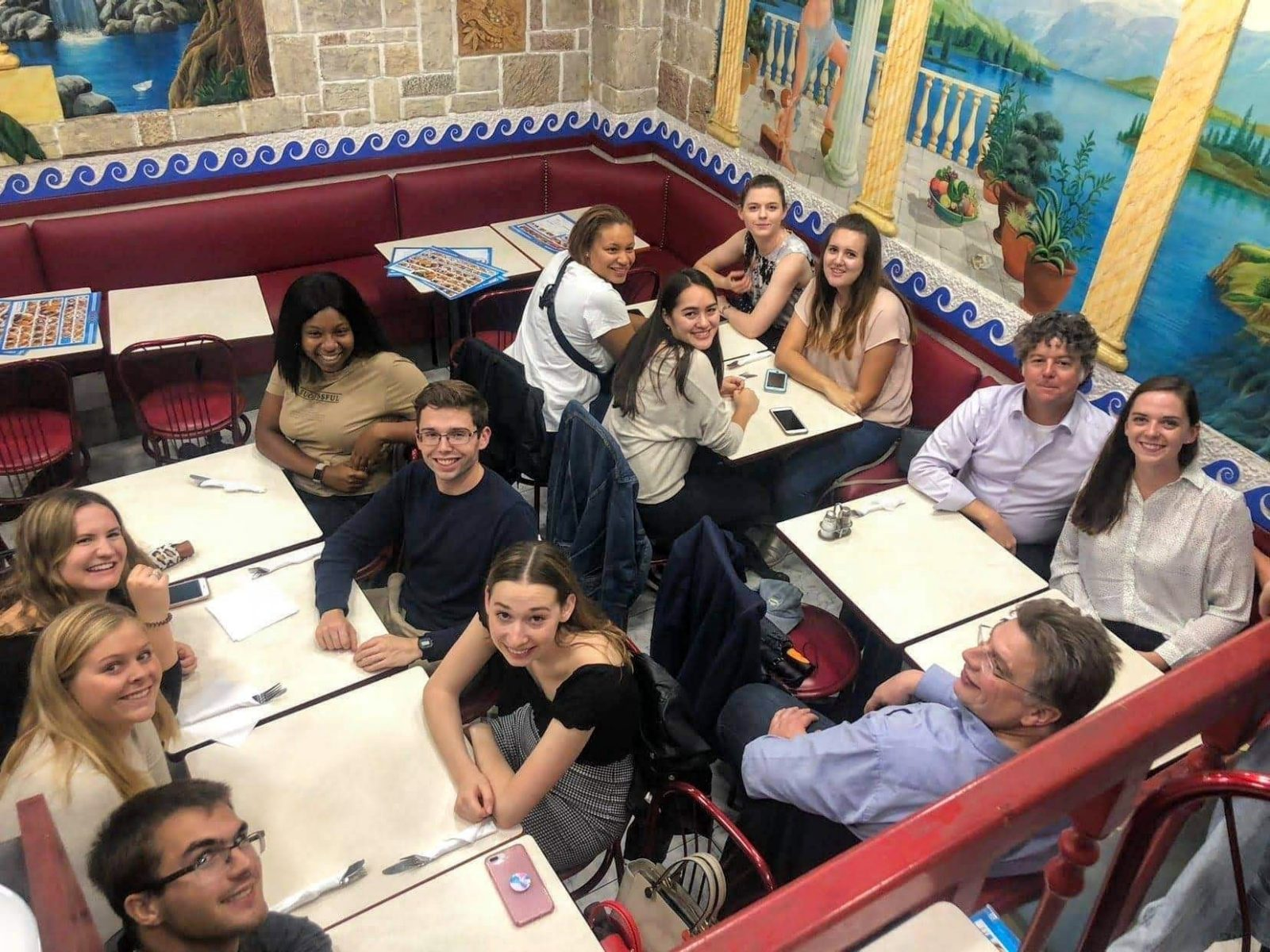 Group dinner in Brussels, Fall 2019