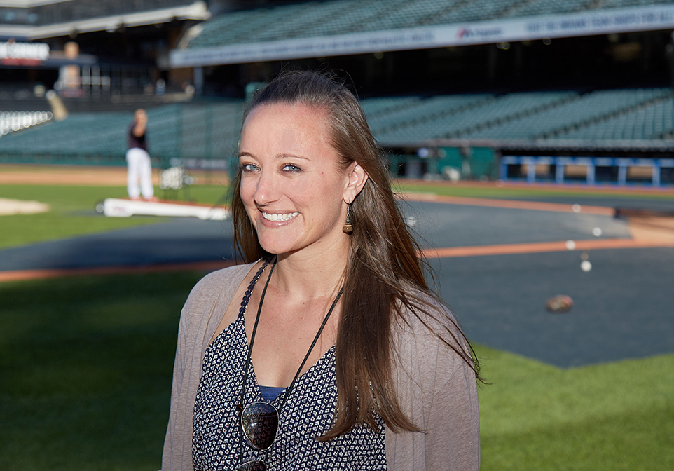 "Anna Bolton, Spanish translator to the Cleveland Indians, managed to dodge the cooler of Gatorade, but not the splash of water that followed. ""Bienvenida al equipo,"" she was told. Welcome to the team."