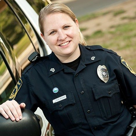 After studying crime and deviance in the Sociology Department, Katie got experience as a sergeant with the Virginia Tech Police while pursuing a graduate degree in the Center for Public Administration and Policy.