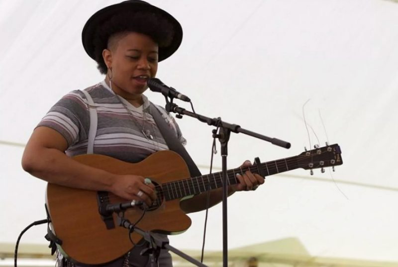 """Hillbilly"" features Amythyst Kiah, shown here performing at Seedtime on the Cumberland, a traditional mountain arts festival presented by Appalshop Inc."