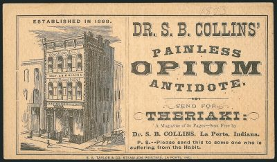 Poster from decades past advertising a Painless Opium Antidote
