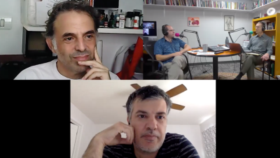 Authors Sayed Kashua and Etgar Keret participated in a podcast facilitated by P Aaron Ansell and Brian Britt.