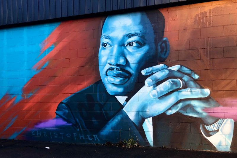A mural of Martin Luther King Jr.