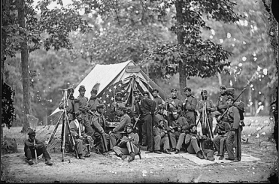 Civil War Weekend event cover image includes pictures of Union soldiers