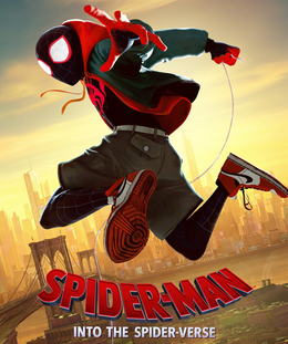 Movie poster for Spider-Man: Into the Spiderverse.