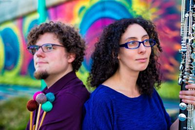 The Transient Canvas duo consists of marimbist Matt Sharrock and bass clarinetist Amy Advocat