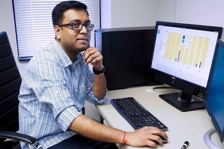 Subhradeep Roy, who completed his doctorate in Virginia Tech's engineering mechanics program in 2017, now works as a postdoctoral associate in the Department of Philosophy. There he uses his experience in complex systems and mathematics to develop a machine learning algorithm alongside Benjamin Jantzen, an assistant professor of philosophy.