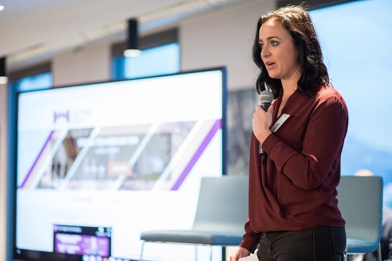 Ashley Ragan (Communication '12), manager of global creative marketing for Netflix's titles, provided the welcome on behalf of the Netflix Studio.