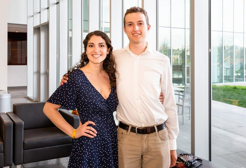 Steger Poetry Prize finalists Susan Rodriguez and Samuel James are both seniors majoring in literature and language. Rodriguez is also pursuing a major in biology while James is also majoring in philosophy.