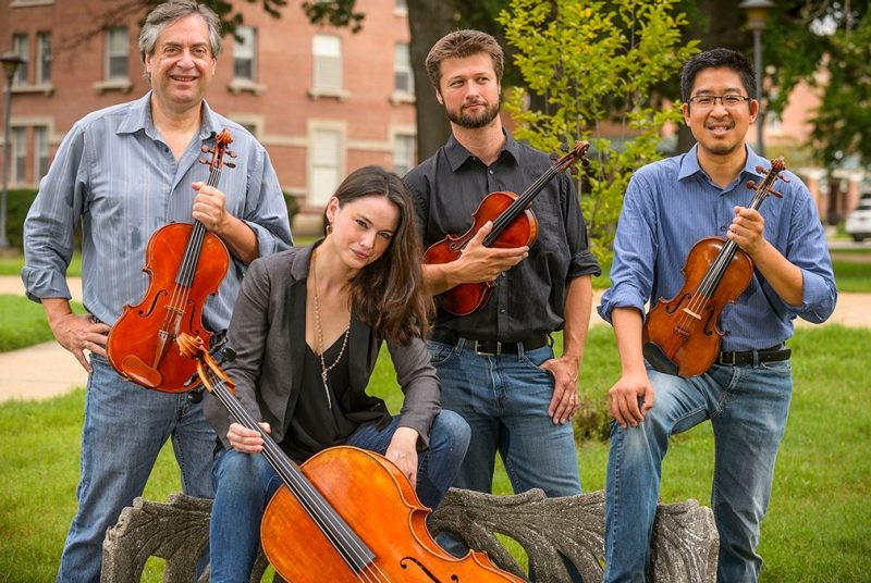 The Ceruti String Quartet is one of the visiting artist concerts scheduled for the 2019-20 season of the School of Performing Arts.