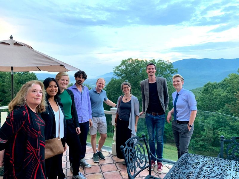 From universities around the world, participants in a summer session gathered to discuss the merits of the philosophy of statistics. Co-director Deborah Mayo, left, hosted an evening for them at her home.