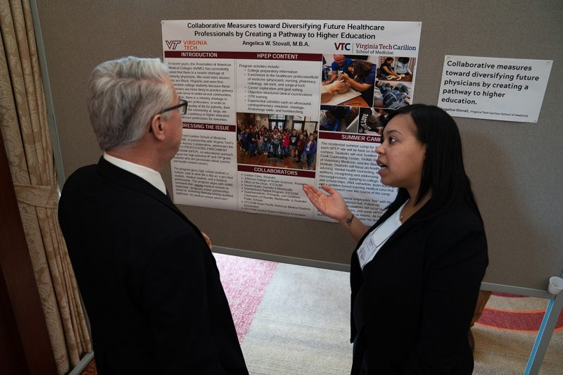 Poster presentations were held to discuss best practices and discuss key issues.