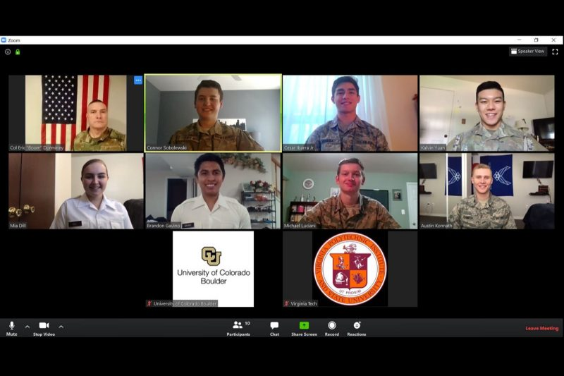 ROTC on a Space Command Zoom online group meeting