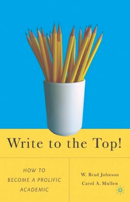 Book cover for Write to the Top that includes pencils