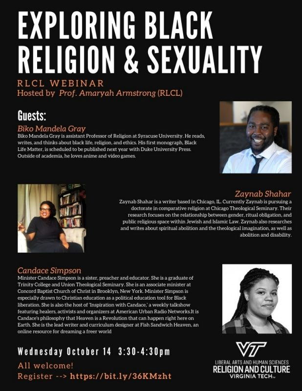 """Exploring Black Religion & Sexuality"" flyer"